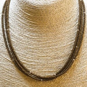 EUC SILPADA Bronze Bead Necklace Sterling Silver